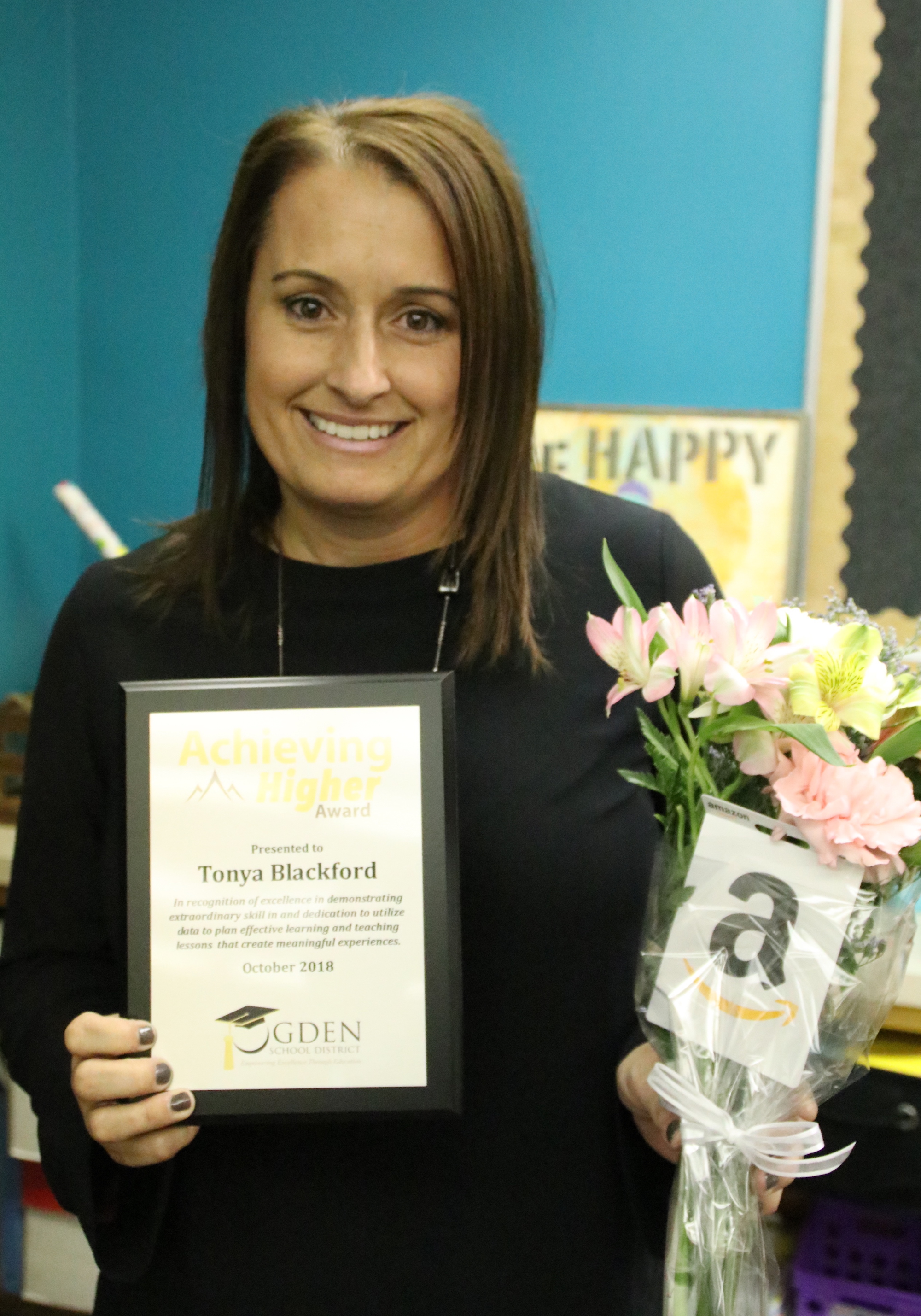 Congratulations Tonya Blackford for being honored with the Achieving Higher Award!